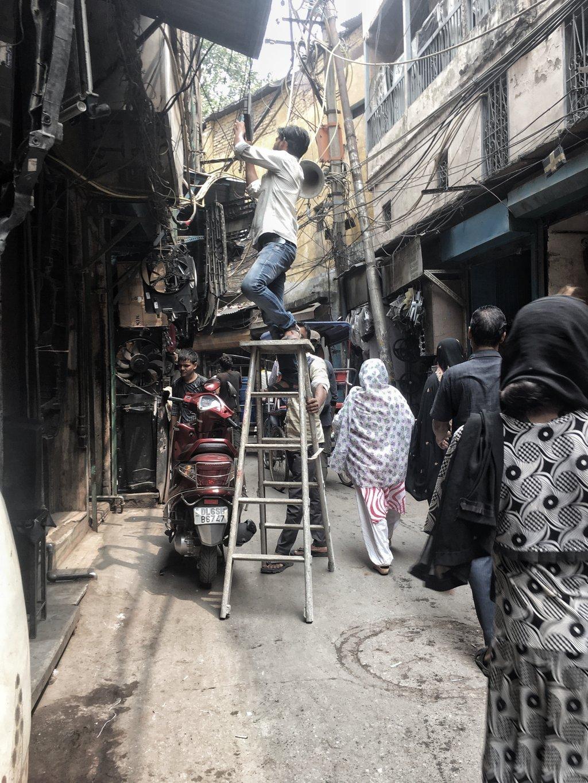 Old delhi ladder wires