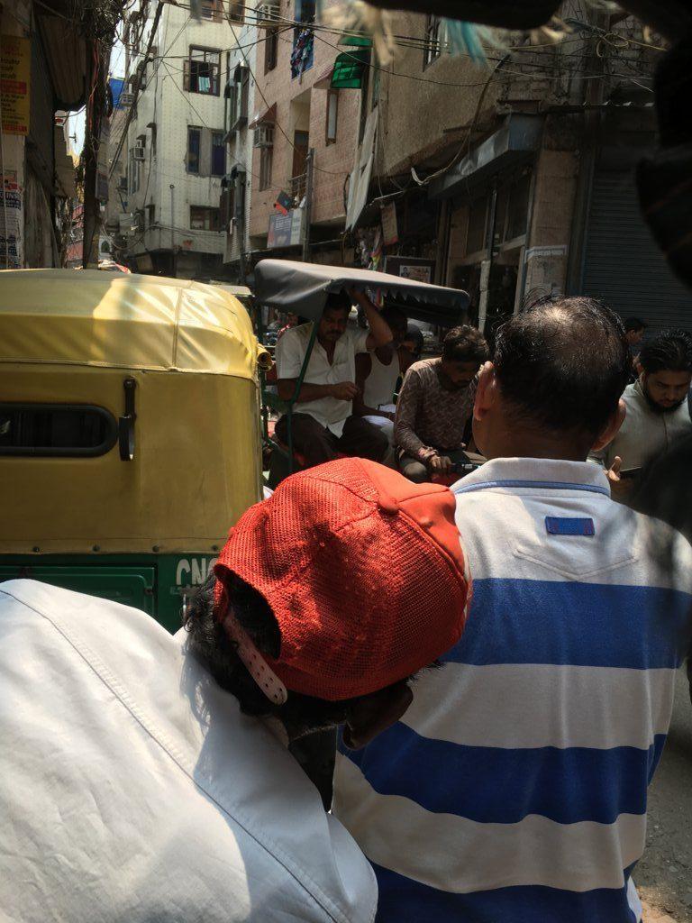 old delhi busy street